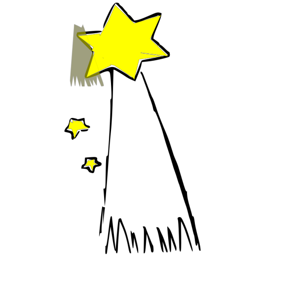 Shooting Star(colored PNG Clip art