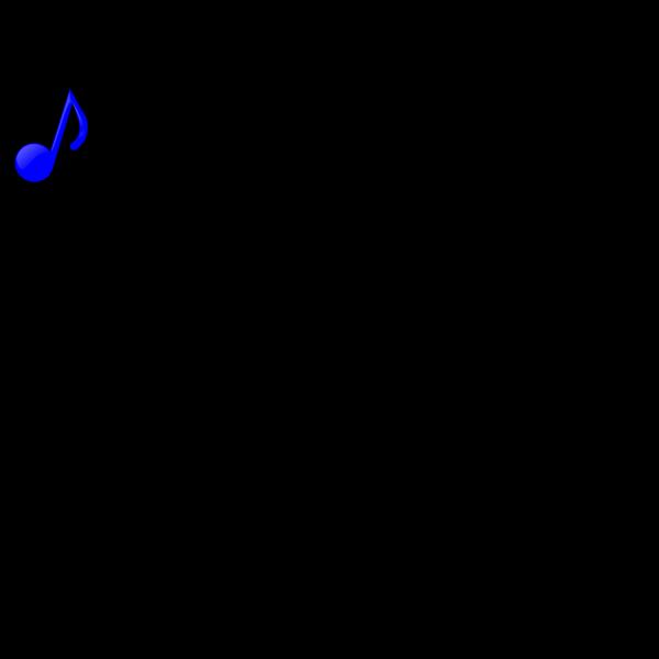 Blue Music Note PNG Clip art