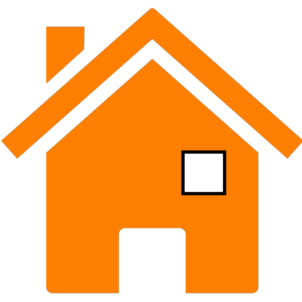 House In Orange PNG Clip art