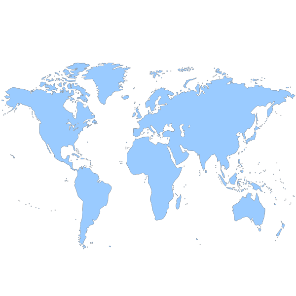 World Map In Colors - No Strip PNG Clip art