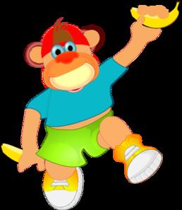 Monkey Holding Banana PNG Clip art