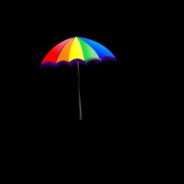 Rainbow Umbrella PNG Clip art