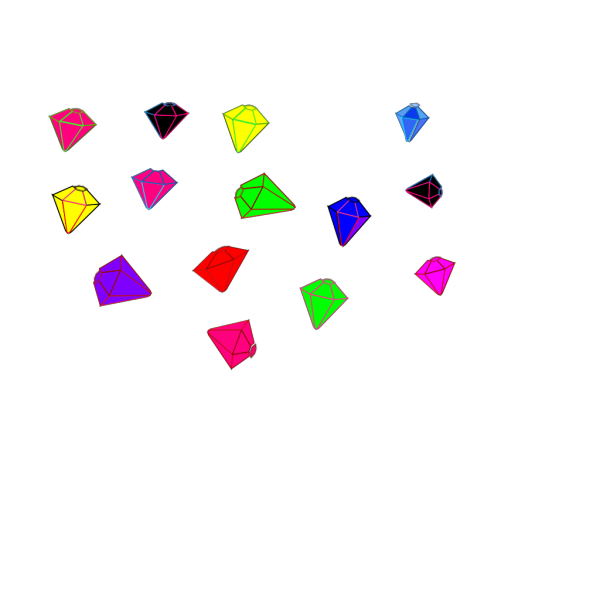 Gems In Pieces PNG Clip art