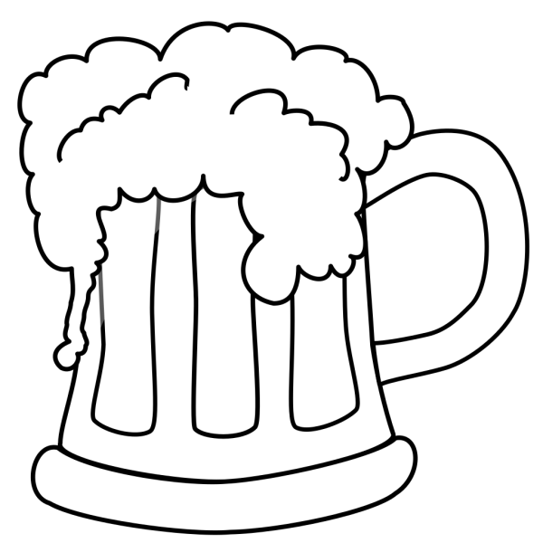 Beer Mug Outlined PNG Clip art