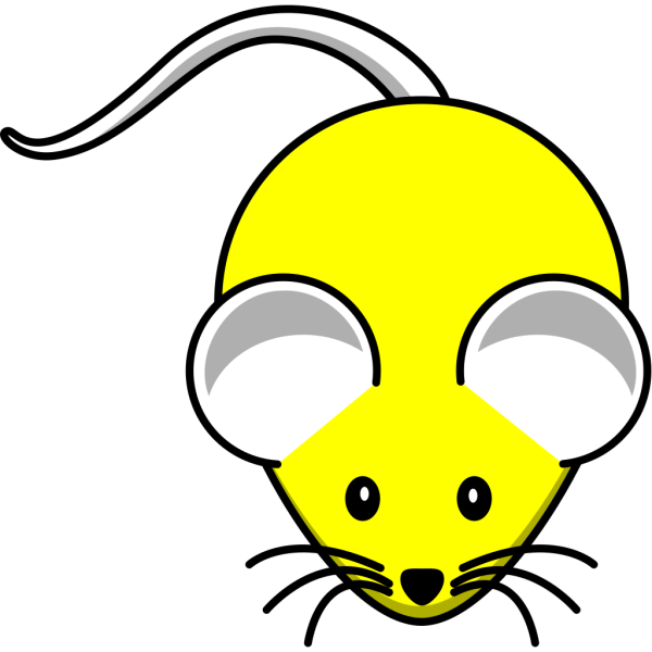 Yellow Mouse PNG Clip art