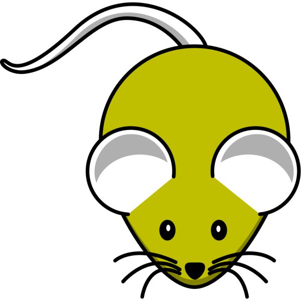 Gray Yellow Mouse PNG Clip art