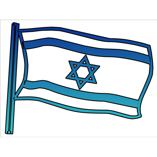 Flag Of Israel Outline PNG Clip art