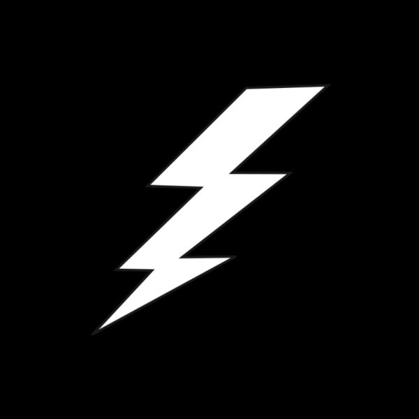Black And White Lightning Bolt PNG Clip art