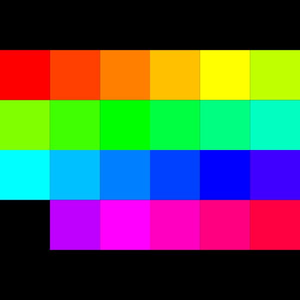 24 Color Palette PNG Clip art
