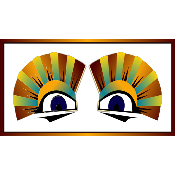 Colorful Sphinx Eyes PNG Clip art