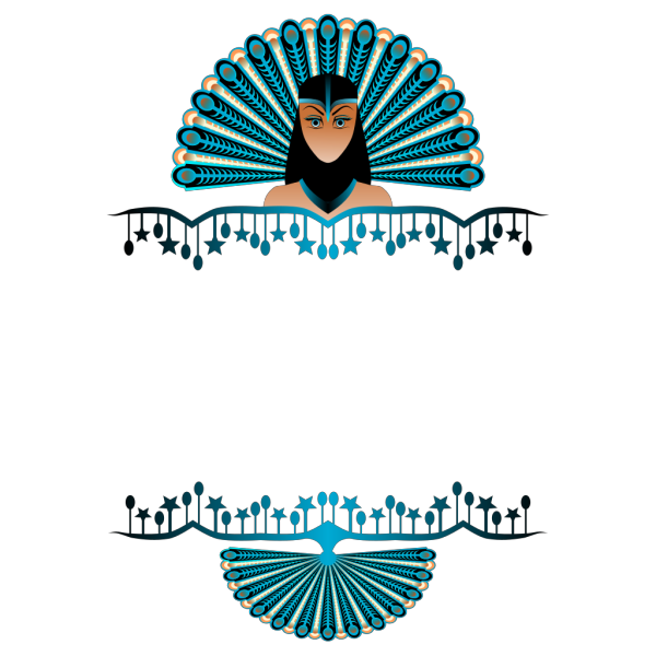 Peacock Girl Border PNG Clip art
