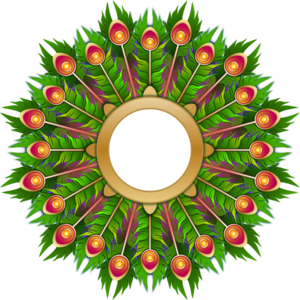 Peacock Feather Wreath PNG Clip art
