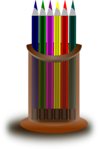 Pencil Stand PNG clipart