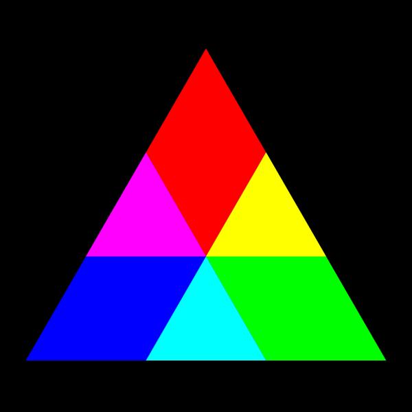 Triangle Rgb Mix PNG Clip art