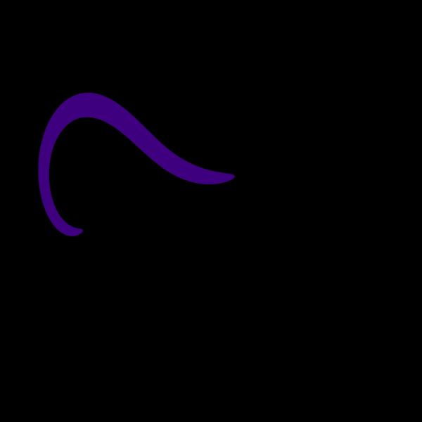 Maroon Curve Lines Clip art