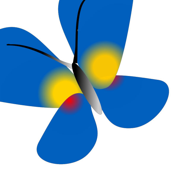 Colombia Flag Butterfly PNG Clip art