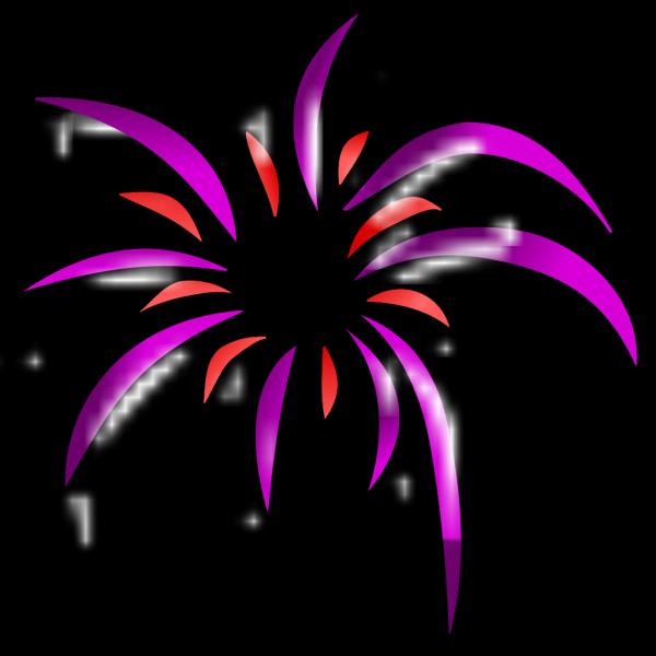 Firework 2 Colors PNG Clip art