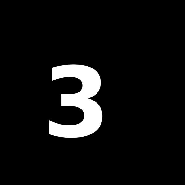 Black 3 PNG Clip art
