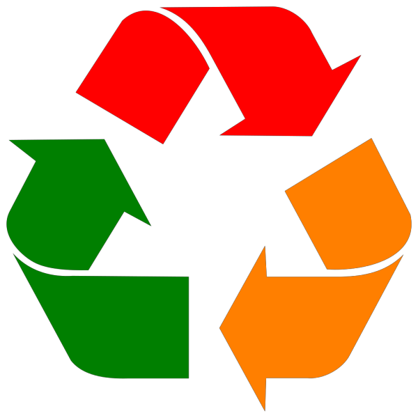 Recycle Chrome Logo PNG Clip art