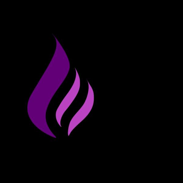 Purple Flame Logo PNG Clip art