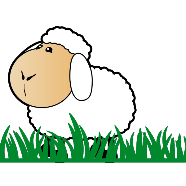 Sheep With Grass PNG Clip art