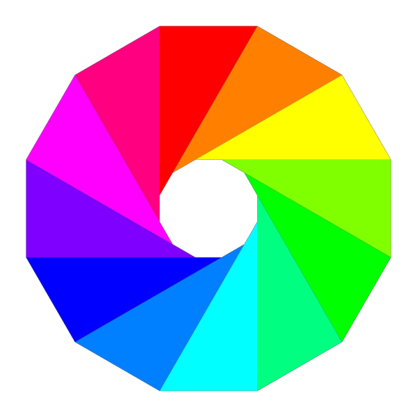 Color Wheel Dodecagon PNG Clip art