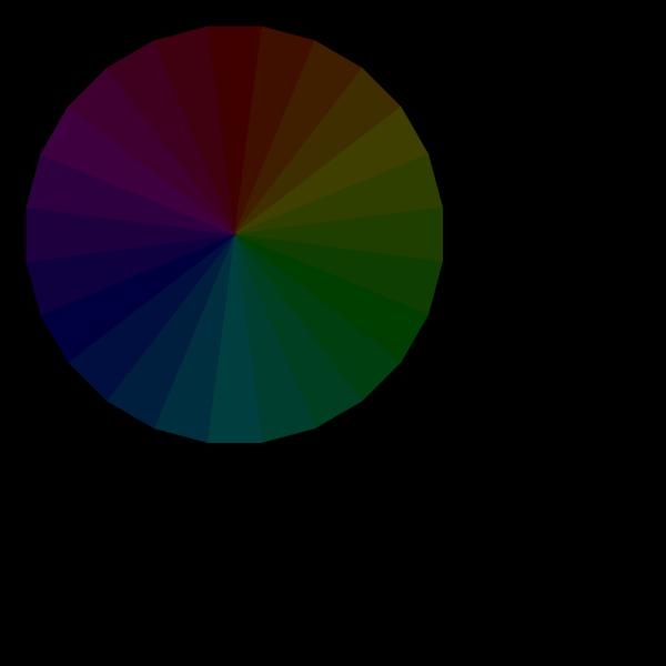 Transparent Color Wheel PNG Clip art