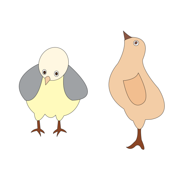 Chickens 001 Figure Color PNG Clip art
