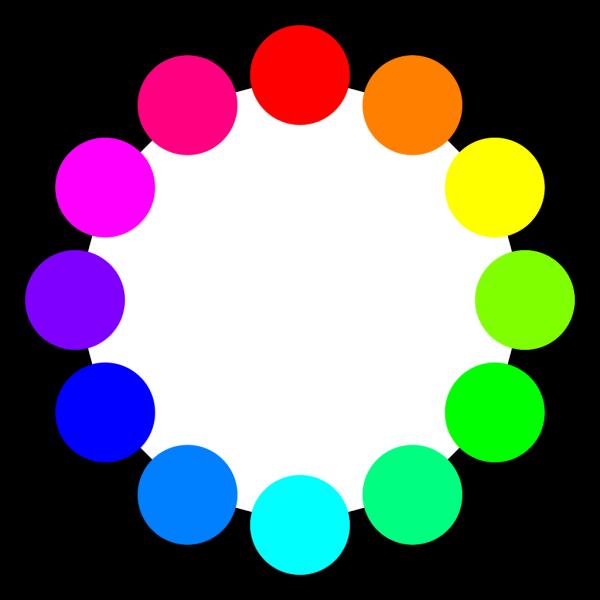 12 Color Circles PNG Clip art