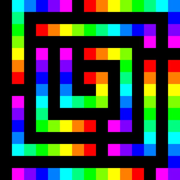120 Square Spiral 12 Color PNG Clip art