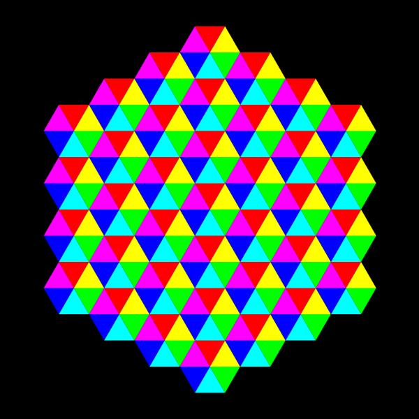 Hexagonal Triangle Tessellation PNG Clip art