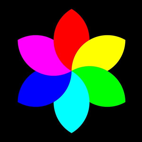 6 Color Football Flower Remix PNG Clip art