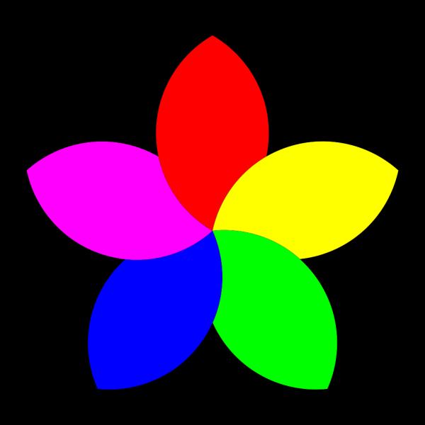 Football 5 Petal Flower PNG Clip art
