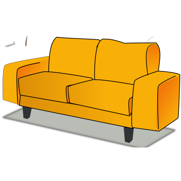 Yellow Couch PNG Clip art