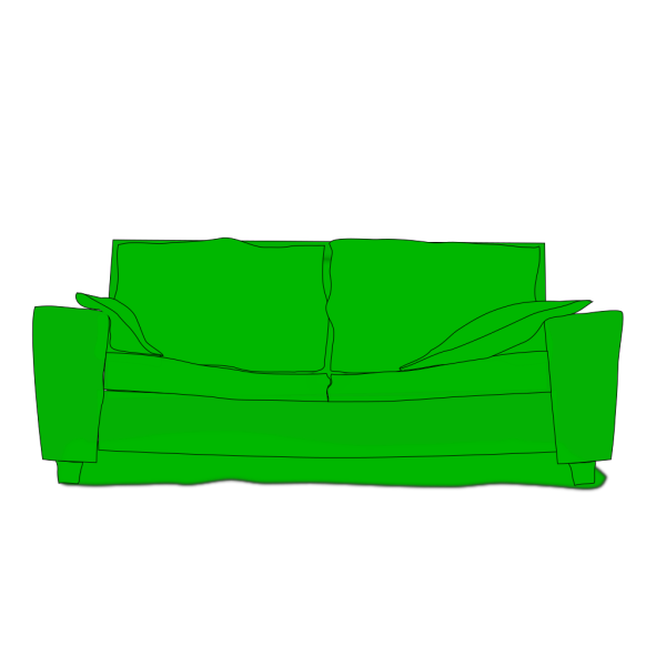 Green Couch PNG Clip art