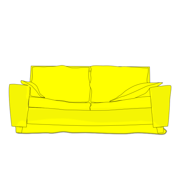 Yellow Couch PNG icon