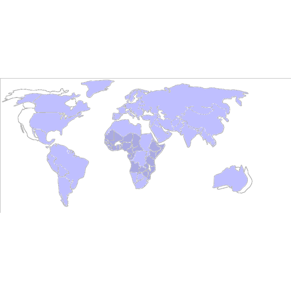 Map World Colors PNG Clip art