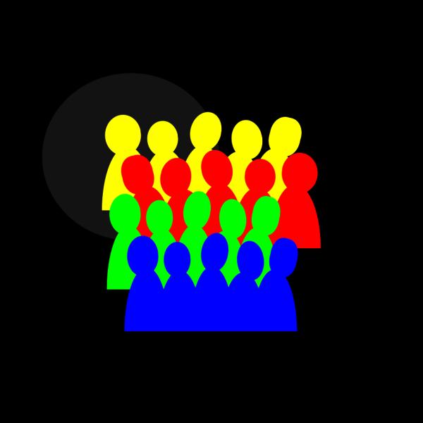 Smaller Crowd 3color PNG Clip art