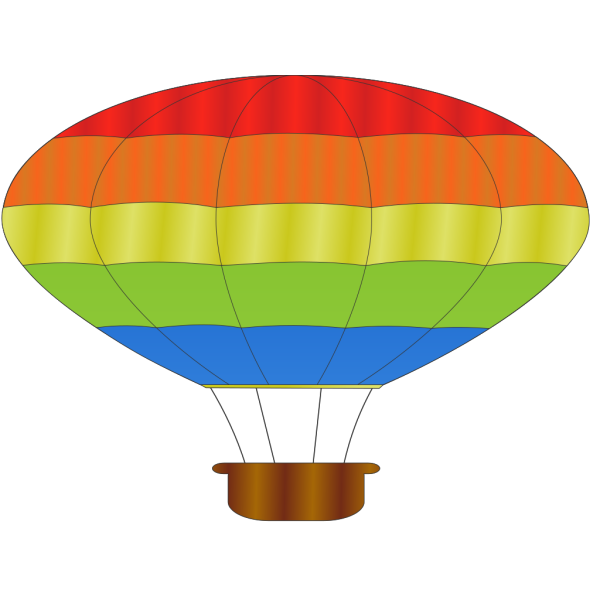 Hot Air Balloon Stencil PNG images