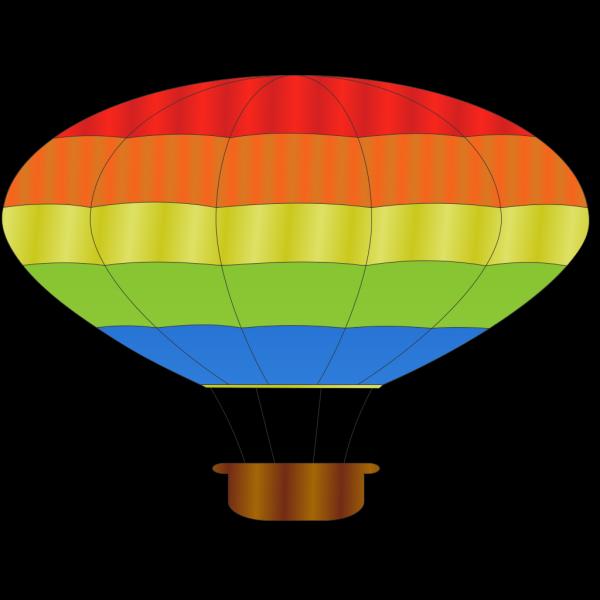 Hot Air Balloon Stencil PNG Clip art