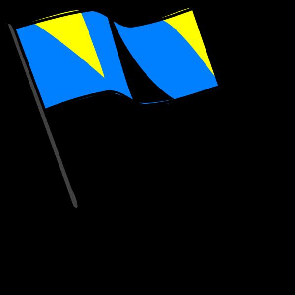 Blue Gold Black Flag PNG Clip art