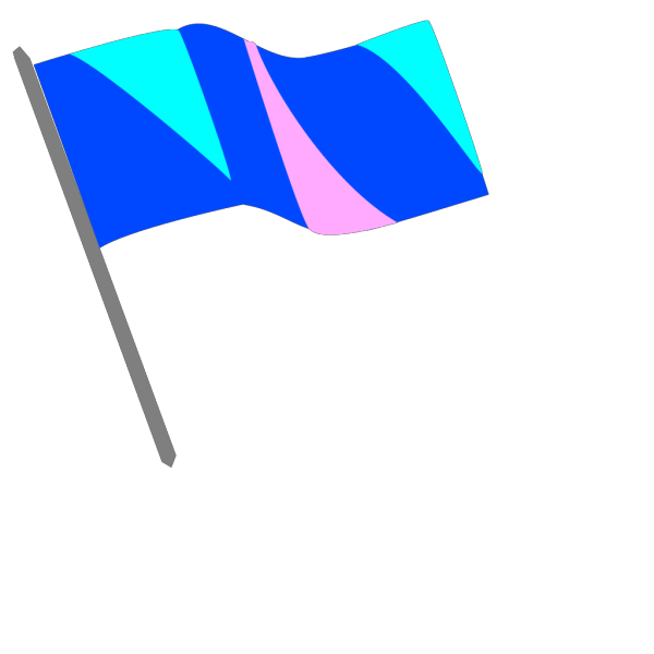 Blue Pink And Turq Flag PNG Clip art