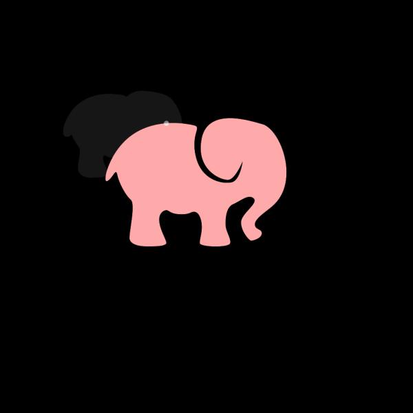 Pink & Grey Elephant PNG Clip art
