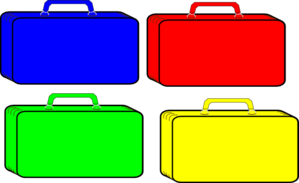 Colorful Suitcases PNG Clip art