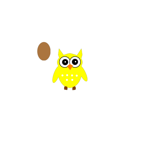 Yellow Owle PNG images