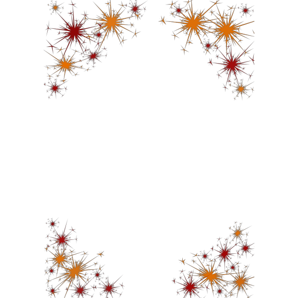 Firework Border PNG icon
