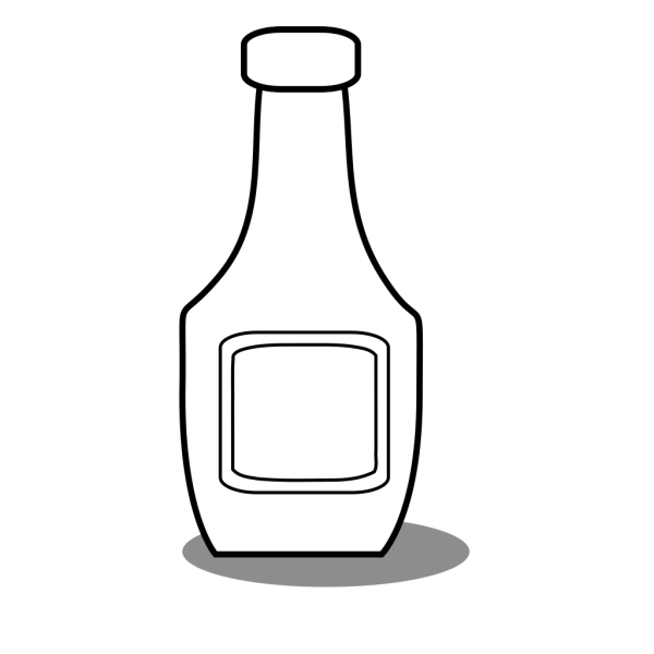 Ketchup Bottle Black And White PNG Clip art