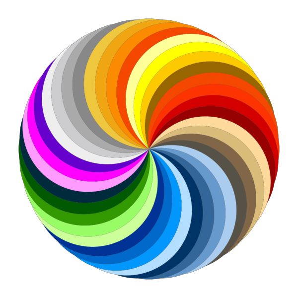 Pinwheel Of Colors PNG Clip art