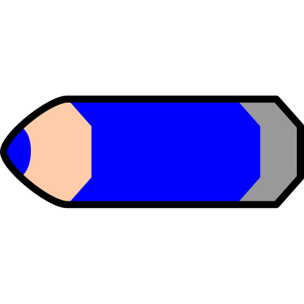 Blue Pencil PNG icon