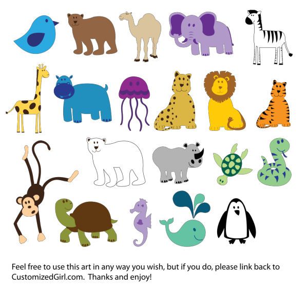 Cute Animals  PNG Clip art